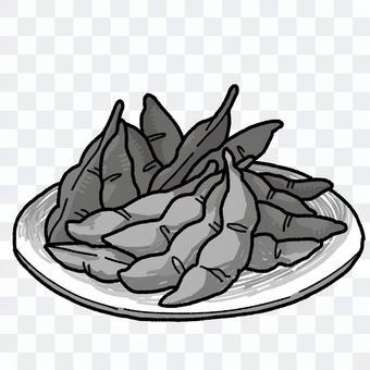 毛豆(黑白)