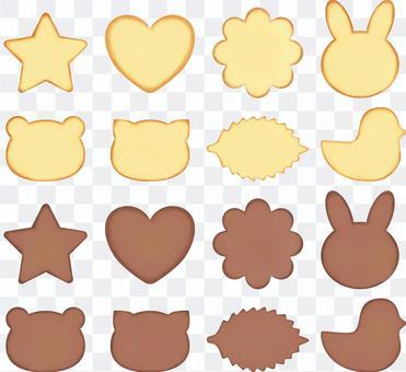 クッキーのイラストセット