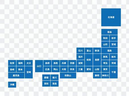 Japan map (simplified) 23