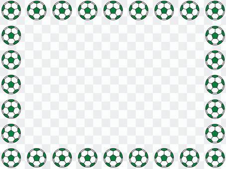 綠色的足球球框架