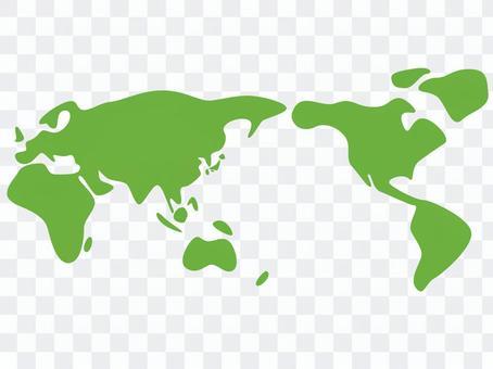 Loose world map