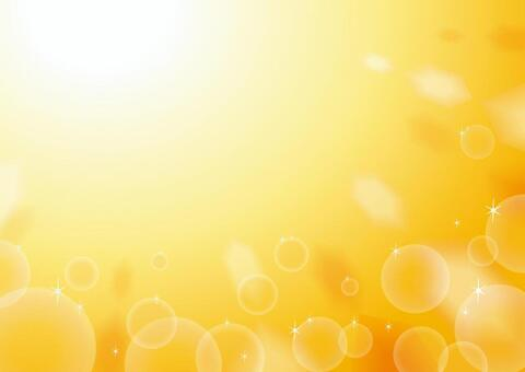 背景肥皂泡橙色