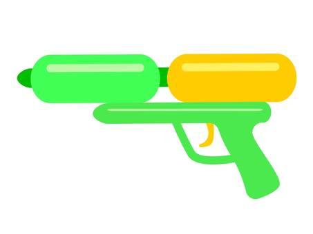玩具水槍的插圖