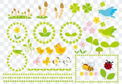 春天的各種插圖