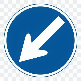 管制標誌(向左轉)