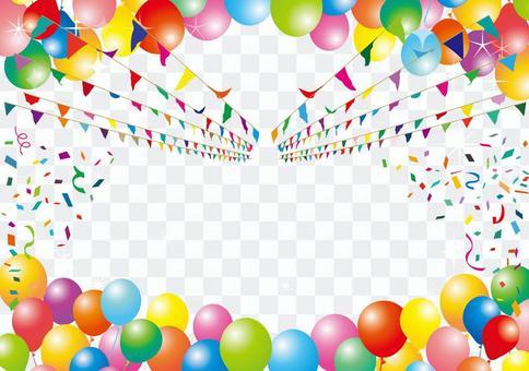 氣球氣球五彩紙屑雪蓋材料背景旗幟壁紙