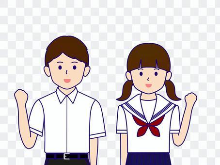 男童女學生製服膽
