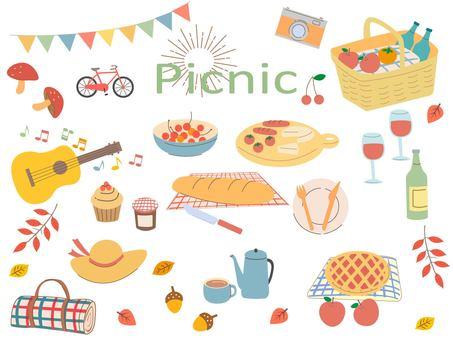 Autumn excursion picnic autumn / winter