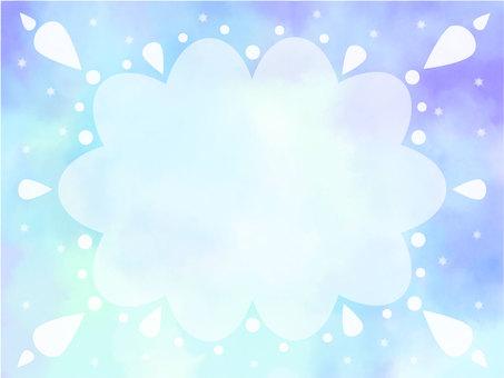 水彩框架雲4