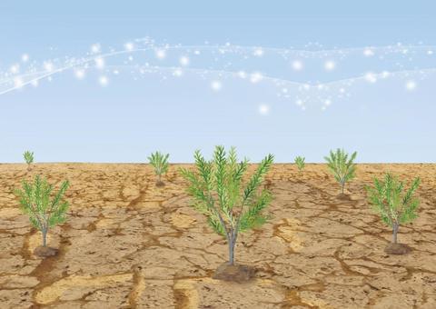 Planting trees (glitter)