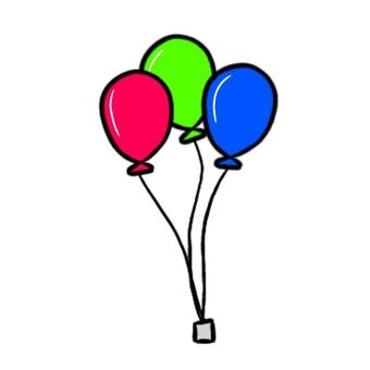 3種顏色的氣球