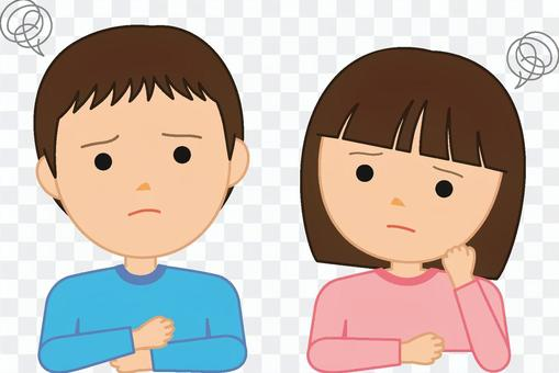 Male and female children ~ worry