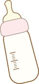 嬰兒奶瓶(粉紅色)