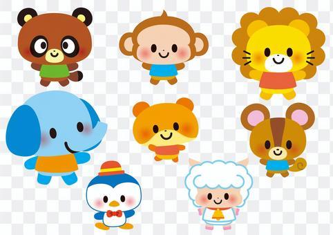 Various cute animals