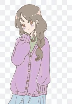 Moe sleeve cardigan sister