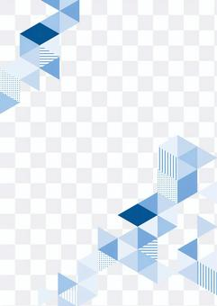 幾何圖案藍色