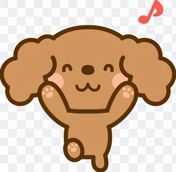 高興的玩具獅子狗