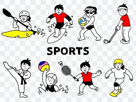 運動員/體育俱樂部套裝2(簡單)
