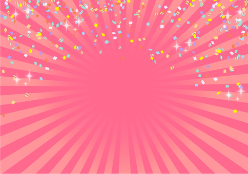 集中線(中心)粉紅色
