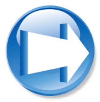 3D箭頭圖標 - 藍色