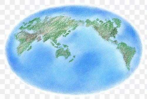 世界地図 手描イラスト