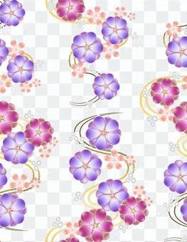 ai美麗的梅花圖案與色板4