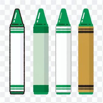 手繪風蠟筆綠色