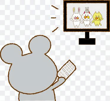 Watching Mouse TV 2