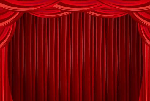 Red curtain frame background red
