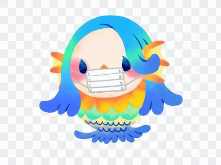 Amabie Mask妖怪手寫材料
