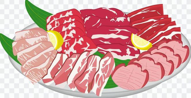 食品系列烤肉肉類的分類