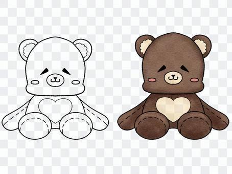 鬆散的臉毛絨熊