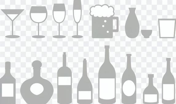 酒精圖標灰色