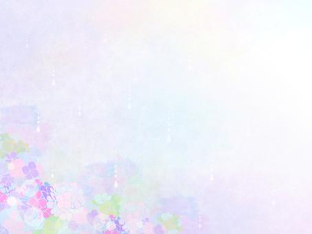 雨季材料夢幻般的繡球背景
