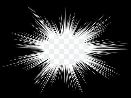 單色卡通表情白星立體閃光