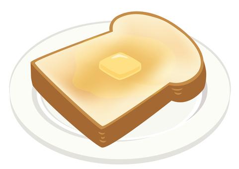 餐★西餐插畫黃油吐司