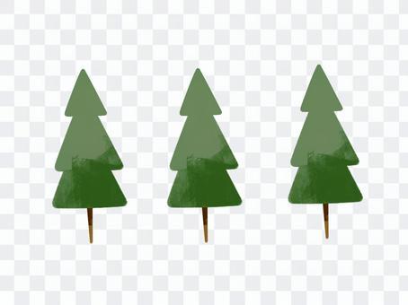 削減針葉林的插圖