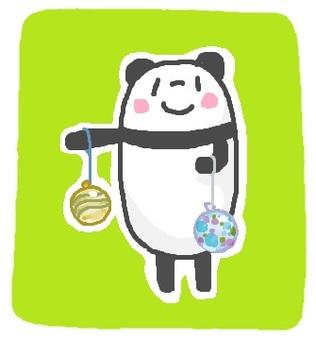 """熊貓""""溜溜球""""水氣球"""