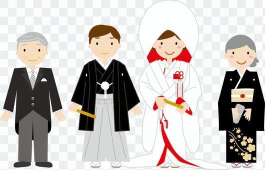 日式婚禮家庭照片
