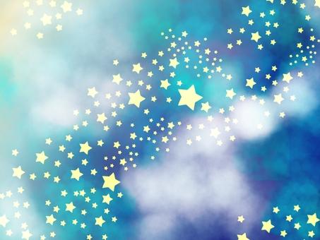 銀河繁星點點的天空背景