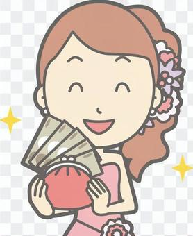 新郎粉紅色 - 豐富 - 胸圍