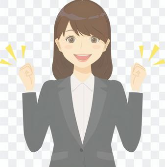 Women in business suits to work hard
