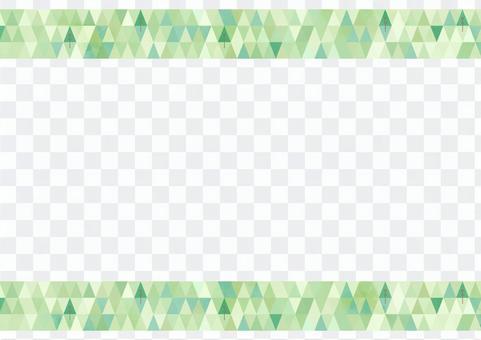 亮綠色的瓷磚狀裝飾框架