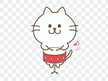 一隻貓打小鼓