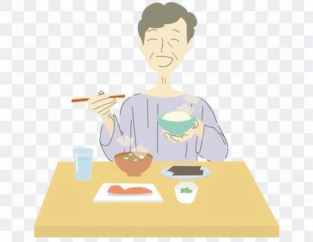 朝ご飯 おばあさん