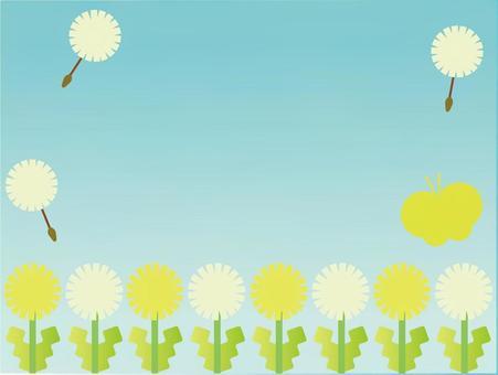 蒲公英和藍天背景