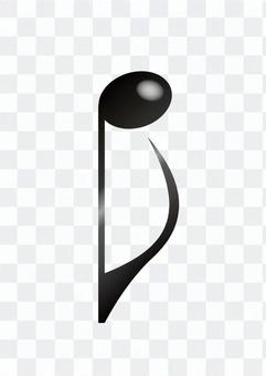 Eighth note (reverse)