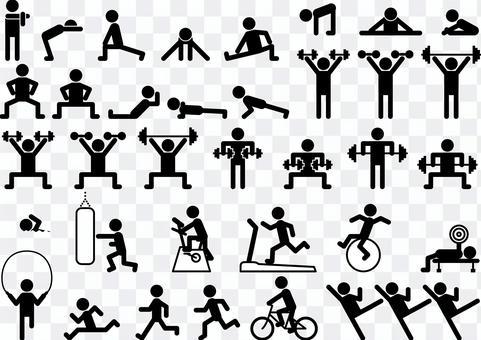 運動 スポーツジム フィットネス セット