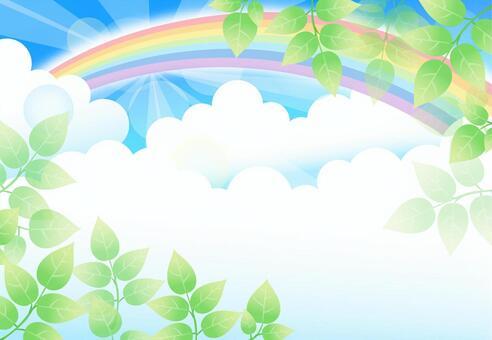 Background Green Rainbow