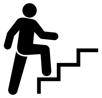 Pictogram of people climbing stairs